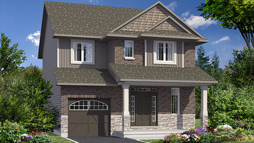 The Bexley new home model plan at the Fernbank Crossing by Phoenix Homes in Kanata