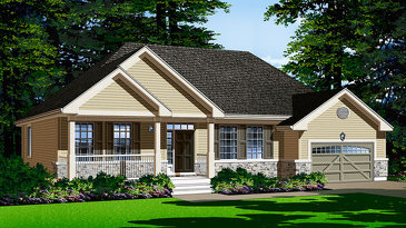 The Apollo new home model plan at the White Tail Ridge by Phoenix Homes in Almonte