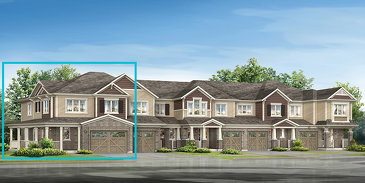 The Heather Corner new home model plan at the River Mill by Mattamy Homes in Cambridge