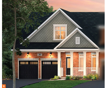The Breeze new home model plan at the Trillium Forest by Zancor Homes in Wasaga Beach
