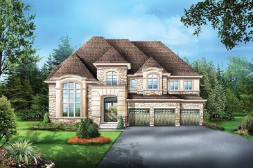 The Valley 2 new home model plan at the Mountainview Heights by Starlane Home Corporation in Waterdown