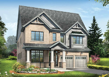 The Wentworth new home model plan at the Ivy Ridge by Minto Communities in Whitby