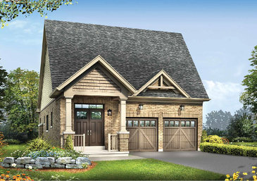 The Brookside new home model plan at the Ivy Ridge by Minto Communities in Whitby