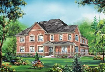 The Victoria new home model plan at the Whitby Meadows by Fieldgate Homes in Whitby