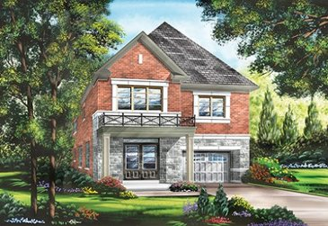 The Birkdale new home model plan at the Whitby Meadows by Fieldgate Homes in Whitby
