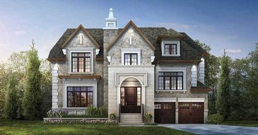 The Yale new home model plan at the Ivy Hall Estates by CountryWide Homes in Toronto