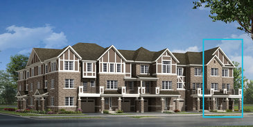 The Finlay End new home model plan at the Hawthorne South Village by Mattamy Homes in Milton
