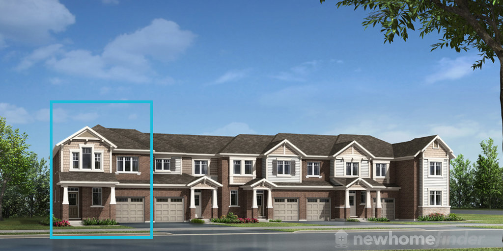 MacFarlane End floor plan at Hawthorne South Village by Mattamy Homes in Milton, Ontario