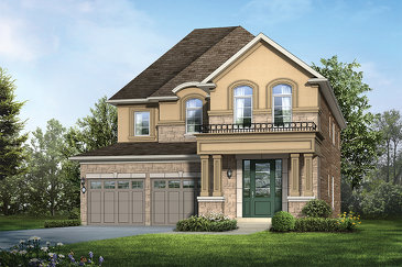The Diamond A new home model plan at the Tiffany Hill by Rosehaven Homes in Ancaster