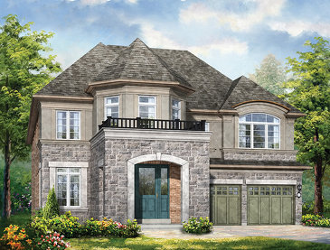 The Simcoe new home model plan at the Anchor Woods by Rosehaven Homes in Holland Landing