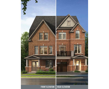 The Davenport new home model plan at the Beechwood by Paradise Developments in Brampton