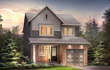The Bellevue new home model plan at the Avalon Encore by Minto Communities in Ottawa