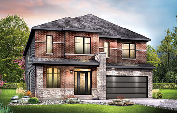 The Okanagan new home model plan at the Harmony by Minto Communities in Nepean