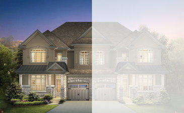 The Bonamite new home model plan at the Mayfield Village (AR) by Aspen Ridge Homes in Brampton