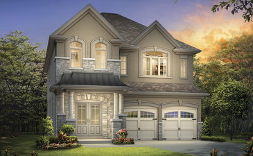 The Britannia new home model plan at the Mayfield Village (AR) by Aspen Ridge Homes in Brampton