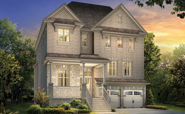 The Orleans new home model plan at the Mayfield Village (AR) by Aspen Ridge Homes in Brampton