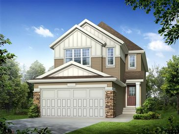 The Bueller new home model plan at the King's Heights by Homes By Avi in Airdrie
