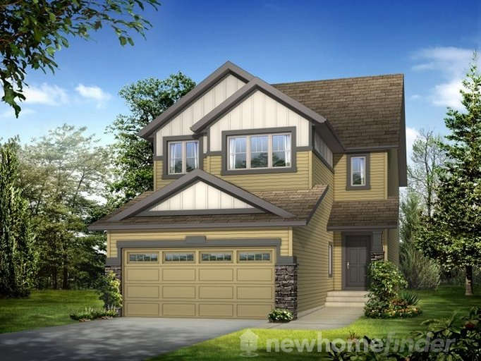 Glendale floor plan at King's Heights by Homes By Avi in Airdrie, Alberta