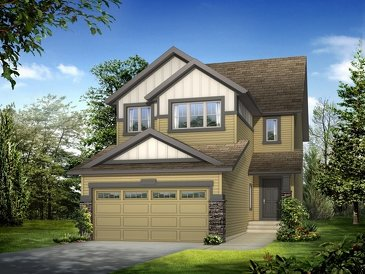 The Glendale new home model plan at the King's Heights by Homes By Avi in Airdrie