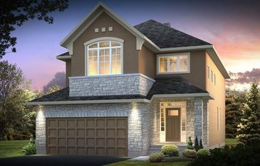 The Berkshire 2 new home model plan at the Blackstone by Cardel Homes in Kanata