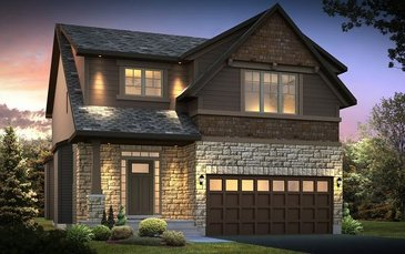 The Devonshire 2 new home model plan at the Blackstone by Cardel Homes in Kanata