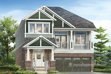 The Shelburne new home model plan at the Hawthorne South Village by Mattamy Homes in Milton