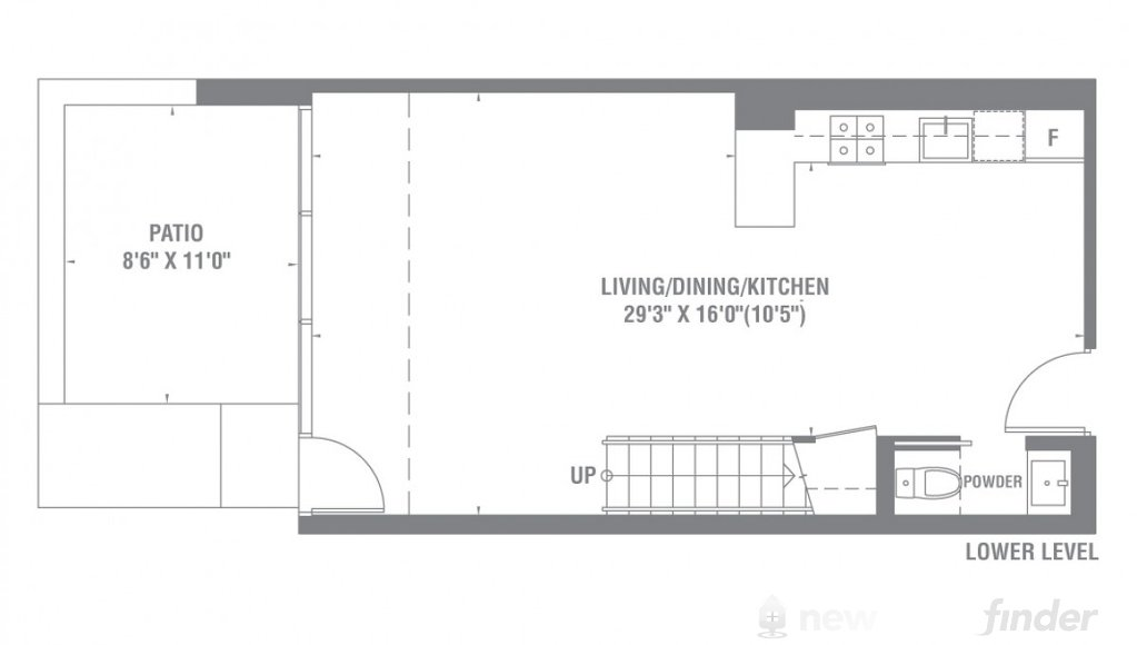 Image of One Bedroom + Den level 1 at the Pier 27 development in Toronto