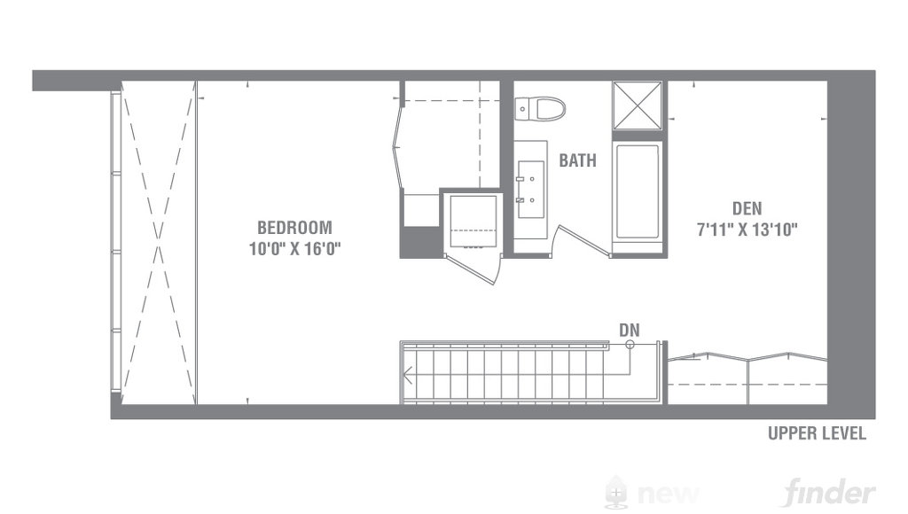 Image of One Bedroom + Den level 2 at the Pier 27 development in Toronto