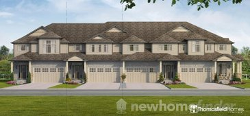 The Nantucket new home model plan at the Aventine Hill at Bird Landing by Thomasfield Homes Limited in Guelph