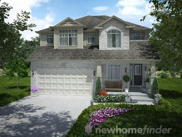 The Harris new home model plan at the Mayberry Hill by Thomasfield Homes Limited in Guelph
