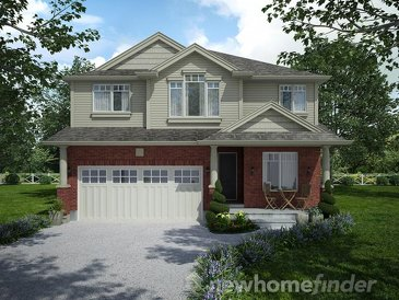 The MacDonald new home model plan at the Mayberry Hill by Thomasfield Homes Limited in Guelph