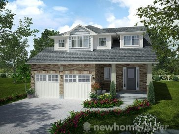 The Johnston new home model plan at the Mayberry Hill by Thomasfield Homes Limited in Guelph
