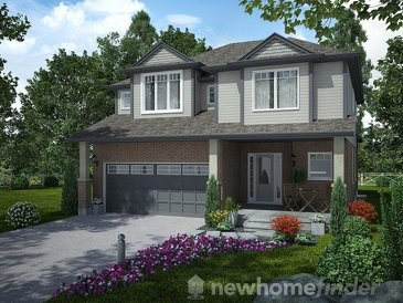 The Carmichael new home model plan at the Mayberry Hill by Thomasfield Homes Limited in Guelph