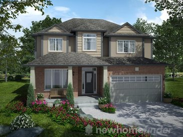 The Lakefield new home model plan at the Mayberry Hill by Thomasfield Homes Limited in Guelph
