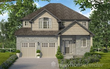 The Queensville new home model plan at the Mayberry Hill by Thomasfield Homes Limited in Guelph