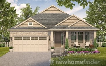 The Springwater 50 new home model plan at the Mayberry Hill by Thomasfield Homes Limited in Guelph