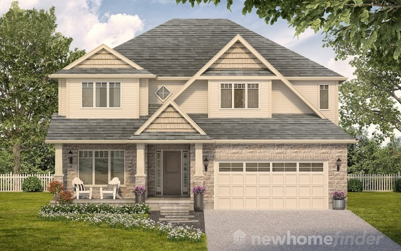 Monticello floor plan at Mayberry Hill by Thomasfield Homes Limited in Guelph, Ontario