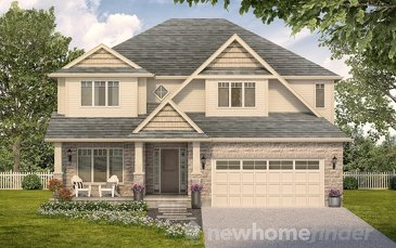 The Monticello new home model plan at the Mayberry Hill by Thomasfield Homes Limited in Guelph
