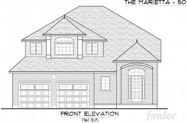 The Marietta new home model plan at the Trillium Woods by Thomasfield Homes Limited in Woodstock