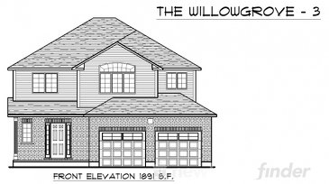 The Willowgrove 3 new home model plan at the Trillium Woods by Thomasfield Homes Limited in Woodstock