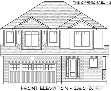 The Carmichael 2 new home model plan at the Trillium Woods by Thomasfield Homes Limited in Woodstock