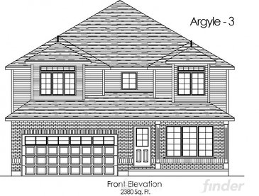The Argyle 3 new home model plan at the Trillium Woods by Thomasfield Homes Limited in Woodstock
