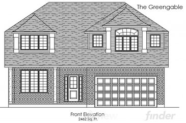 The Greengable new home model plan at the Trillium Woods by Thomasfield Homes Limited in Woodstock