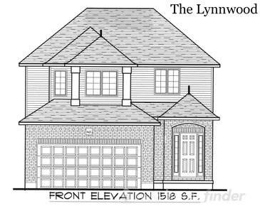 The Lynnwood new home model plan at the Tiffany Ridge by Thomasfield Homes Limited in Woodstock