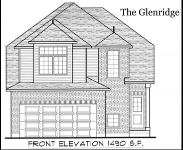 The Glenridge new home model plan at the Tiffany Ridge by Thomasfield Homes Limited in Woodstock