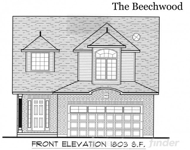 Beechwood floor plan at Tiffany Ridge by Thomasfield Homes Limited in Woodstock, Ontario
