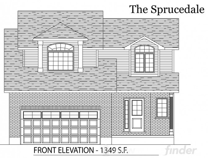 Sprucedale floor plan at Tiffany Ridge by Thomasfield Homes Limited in Woodstock, Ontario