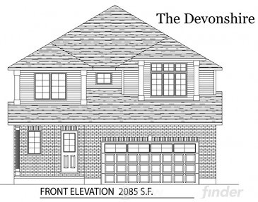The Devonshire new home model plan at the Tiffany Ridge by Thomasfield Homes Limited in Woodstock