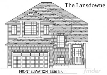 The Lansdowne new home model plan at the Tiffany Ridge by Thomasfield Homes Limited in Woodstock
