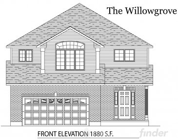 The Willowgrove new home model plan at the Tiffany Ridge by Thomasfield Homes Limited in Woodstock